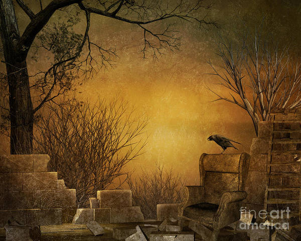 Bird Watching Digital Art - King Of The Ruins by Peter Awax