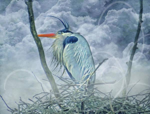 Heron Mixed Media - King Of The Sky by Georgiana Romanovna