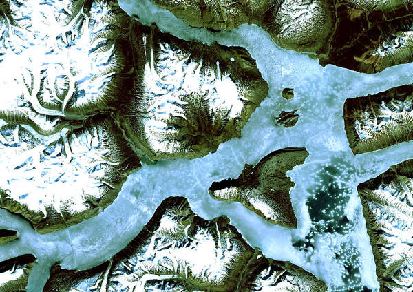 Satellite Photograph - King Oscar Fjord Greenland by Anonymous