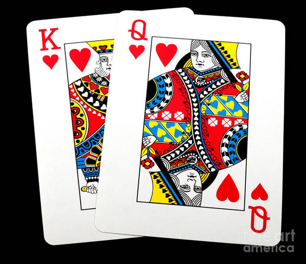 Photograph - King Queen Of Hearts by Gunter Nezhoda