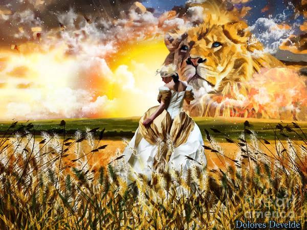 Heaven Digital Art - Kingdom Gold by Dolores Develde