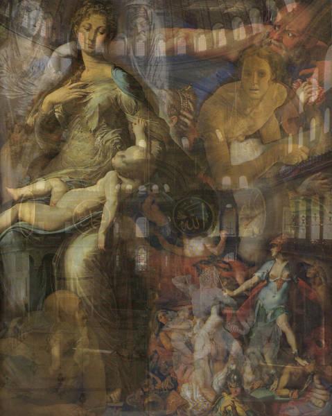 Franz Von Stuck Painting - Kingdom In Conflict by David Matthews