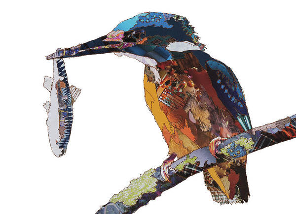 Stitch Painting - Kingfisher by MGL Meiklejohn Graphics Licensing