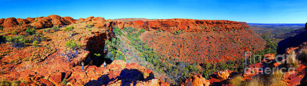 Central Australia Photograph - Kings Canyon Central Australia by Bill  Robinson