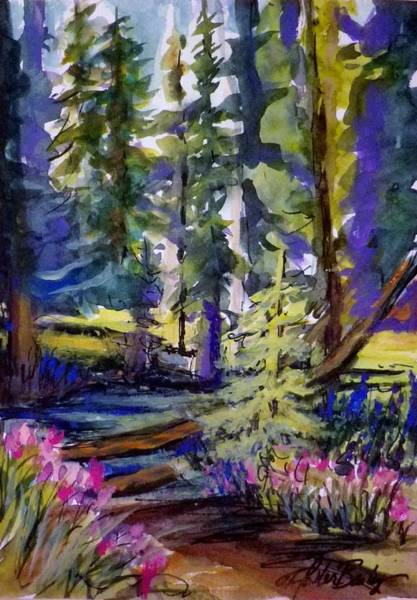 Alpine Meadow Painting - Kings Creek Meadow by Therese Fowler-Bailey