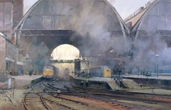Wall Art - Photograph - Kings Cross Station Oil On Canvas by Trevor Chamberlain