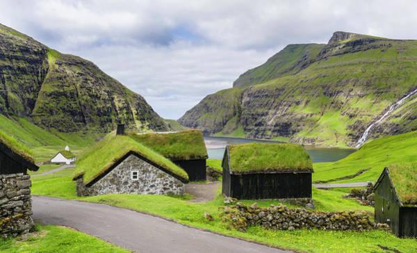 Faroe Island Wall Art - Photograph - Kings Farm In The Valley Of Saksun by Martin Zwick