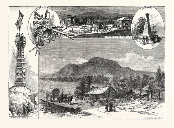 Early American History Drawing - Kings Mountain Centennial by American School