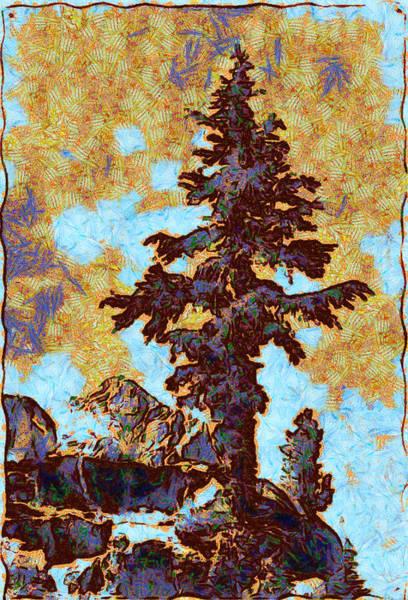 Digital Art - Kings River Canyon Colorized by Ansel Adams