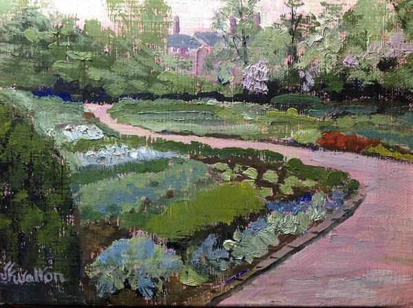 Painting - Kingwood Perennial Garden by Judy Fischer Walton