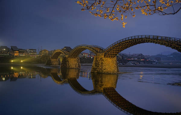 Wall Art - Photograph - Kintai Bridge In Iwakuni by Karen Walzer