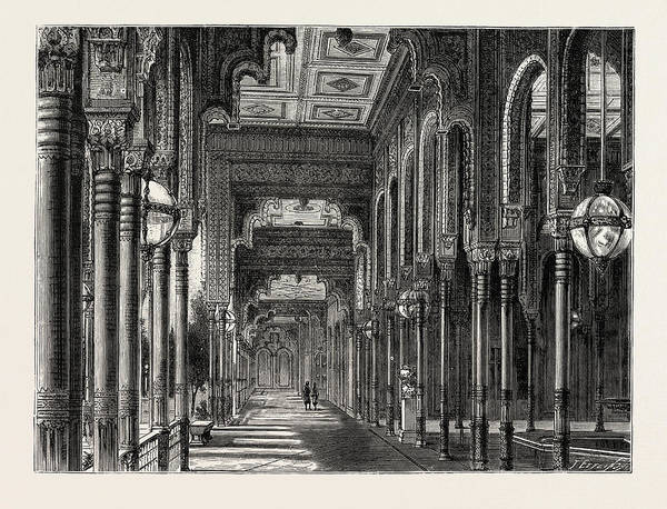 Chateau Drawing - Kiosk In The Chateau Of Ghezeereh by Litz Collection