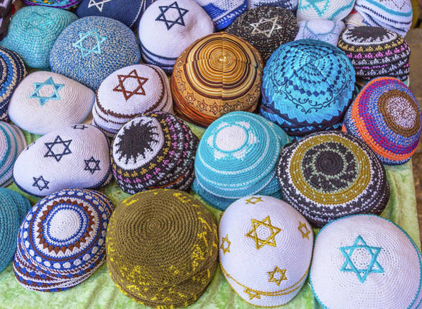 Wall Art - Photograph - Kippah Hats For Sale, Israel by William Perry