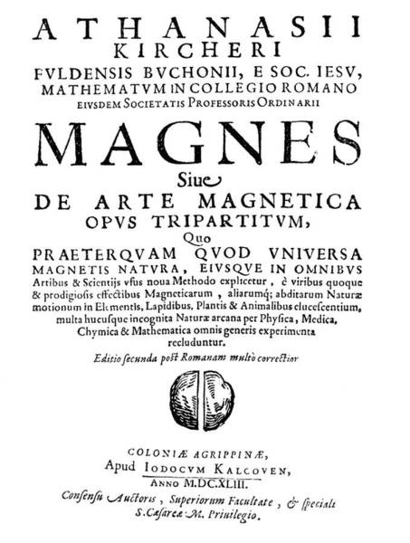 Arte Photograph - Kircher's Book On Magnetism by Royal Astronomical Society/science Photo Library