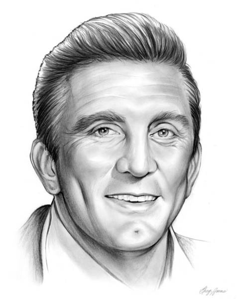Movie Drawing - Kirk Douglas by Greg Joens