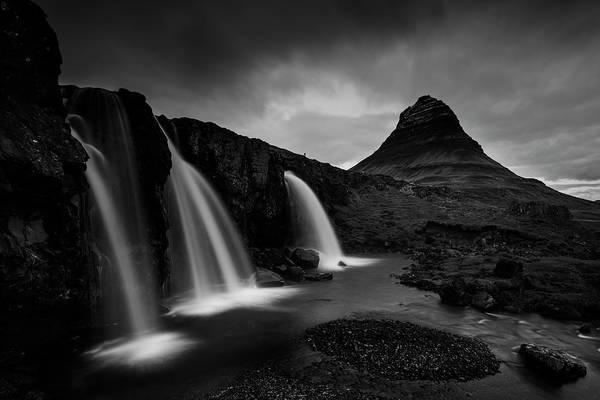 Tourists Photograph - Kirkjufell Iceland by Nina Pauli