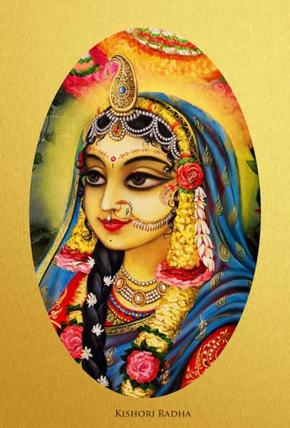 Wall Art - Painting - Kishori Radha Portrait  by Vrindavan Das