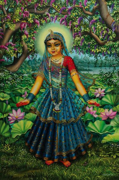Shree Wall Art - Painting - Kishori Radha by Vrindavan Das