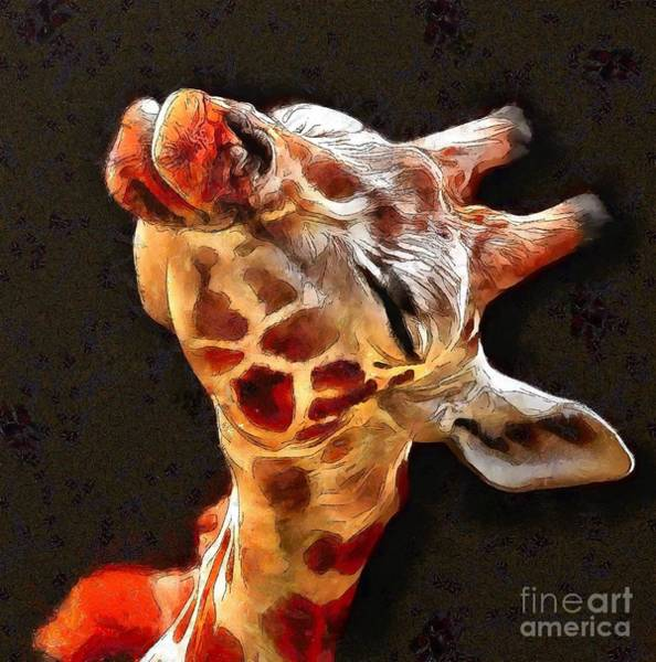 Painting - Kiss-a Giraffe by Catherine Lott