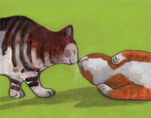Painting - Kiss #1 by Kazumi Whitemoon