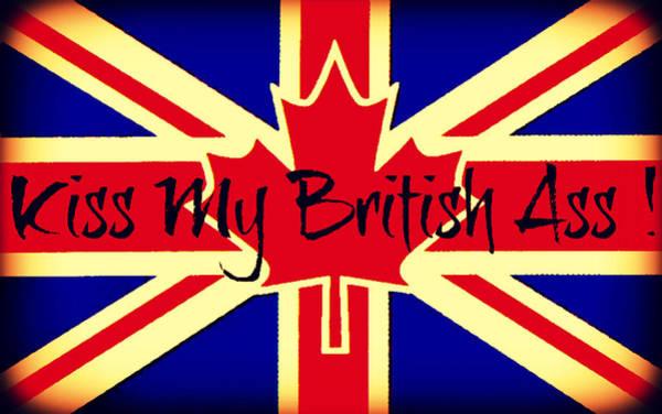 Painting - Kiss My British Ass by Cyryn Fyrcyd