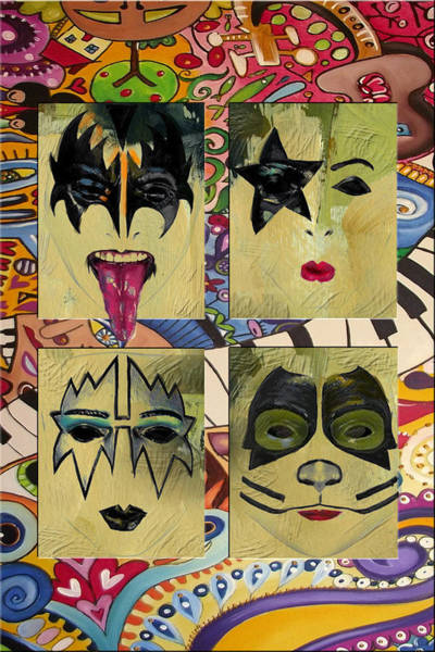 Music City Painting - Kiss The Band by Corporate Art Task Force