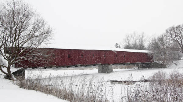 Photograph - Kissing Bridge In The Winter by Nick Mares