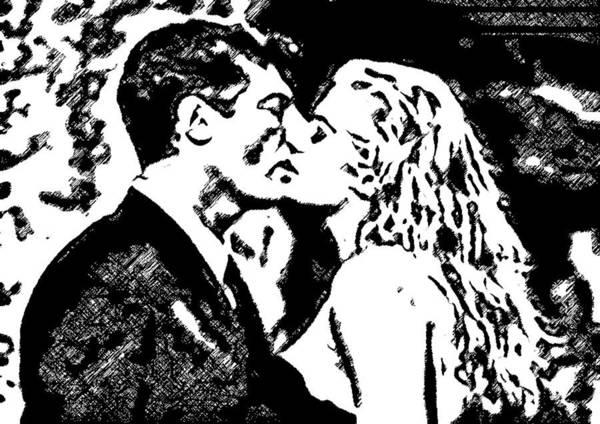 Digital Art - Kissing You by Catherine Lott