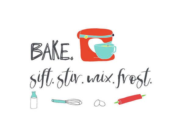 Kitchen Painting - Kitchen, Bake, Stir, Mix by Pamela J. Wingard