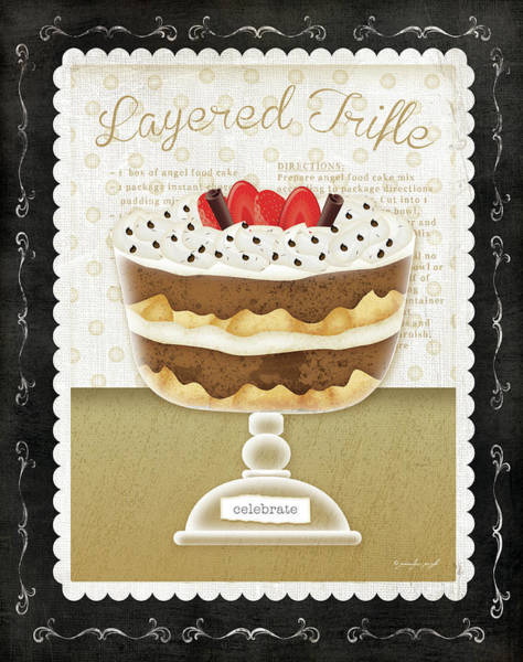 Desserts Painting - Kitchen Cuisine Dessert Iv by Jennifer Pugh