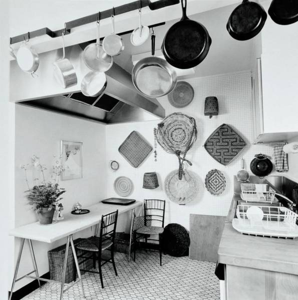 Wall Art - Photograph - Kitchen Designed By Decorator Chessie Raynor by Ernst Beadle