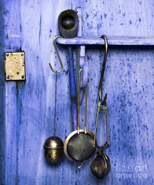 Photograph - Kitchen Equipment In Blue by Silva Wischeropp