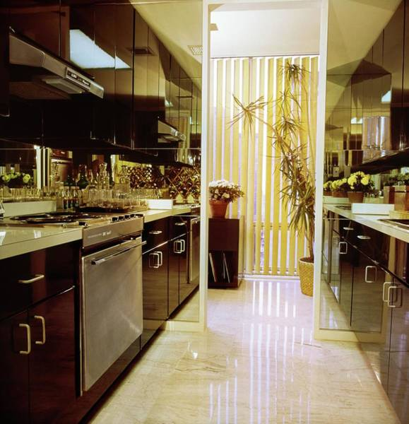 Oven Photograph - Kitchen In Olympic Tower by Horst P. Horst