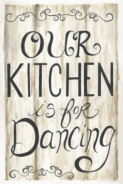 Wall Art - Painting - Kitchen Is For Dancing by Cindy Shamp