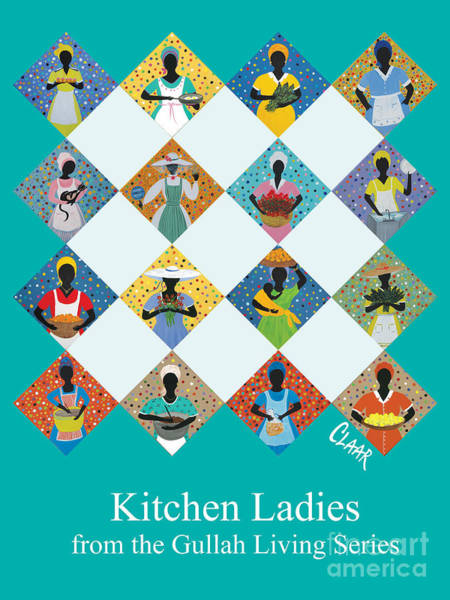 Gullah People Wall Art - Painting - Kitchen Ladies Poster by Samantha Claar