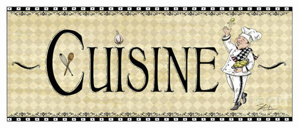 Mixed Media - Kitchen Sign-cuisine by Shari Warren