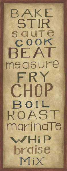 Wall Art - Painting - Kitchen Words by Cindy Shamp