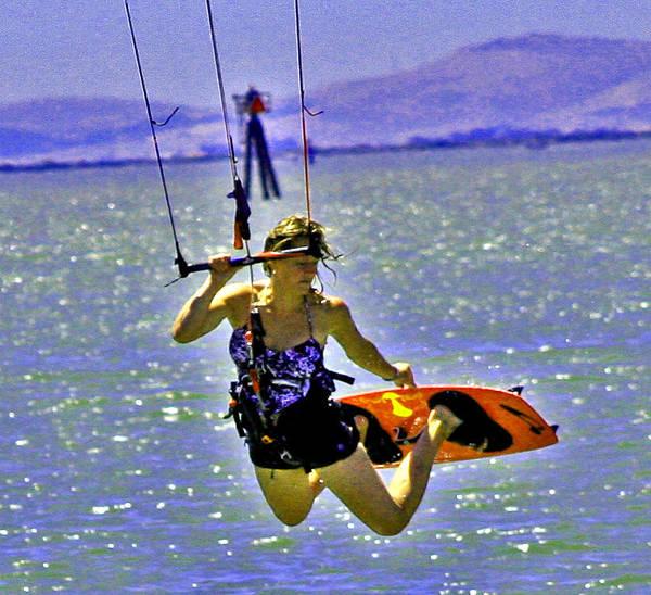 Digital Art - A Kite Board Hoot by Joseph Coulombe