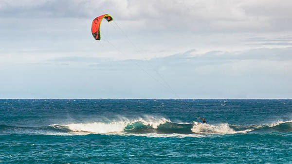 Photograph - Kite Surfing At Ho'okipa by Trever Miller