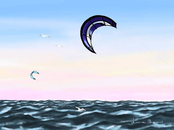 Kite Wall Art - Painting - Kite by Veronica Minozzi