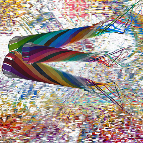 Computer Graphics Painting - Kites by Jack Zulli