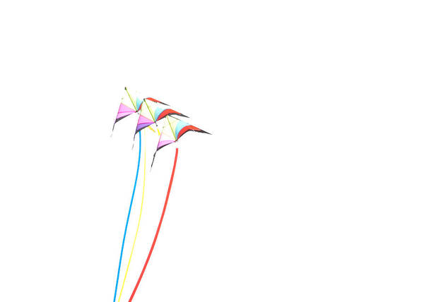 Photograph - Kites On White - 1 by Rob Huntley