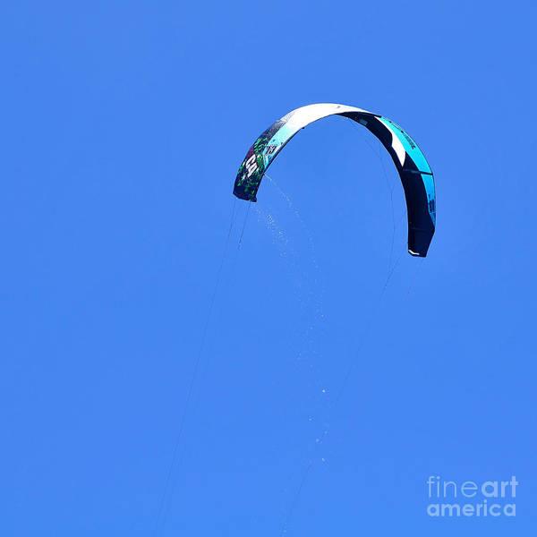Kite Photograph - Kitesurfer Rising by Kaye Menner
