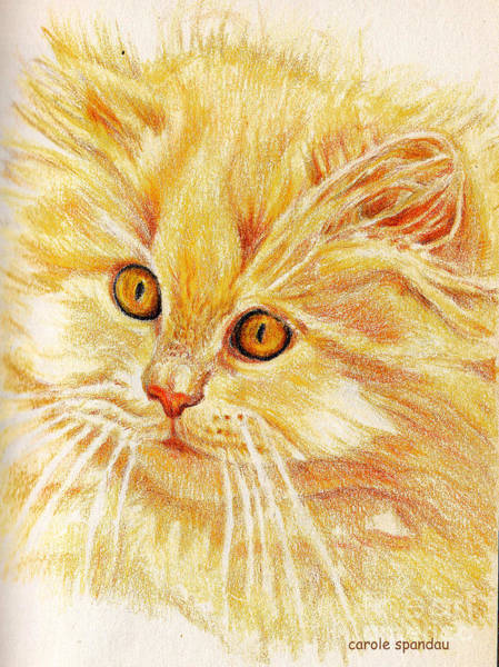 Painting - Kitty Kat Iphone Cases Smart Phones Cells And Mobile Cases Carole Spandau Cbs Art 340 by Carole Spandau