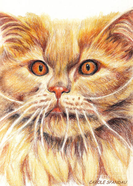 Painting - Kitty Kat Iphone Cases Smart Phones Cells And Mobile Cases Carole Spandau Cbs Art 351 by Carole Spandau
