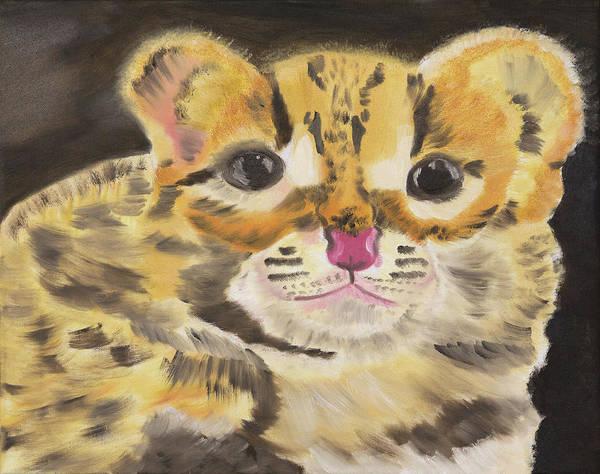 Calico Kitten Wall Art - Painting - Peek A Boo Kitty by Meryl Goudey