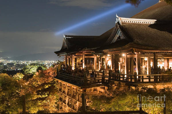 Kansai Region Wall Art - Photograph - Kiyomizu Temple Autumn Nights by Ei Katsumata