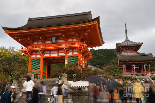 Kansai Region Wall Art - Photograph - Kiyomizu Temple Entrance by Ei Katsumata