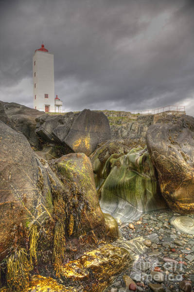 Photograph - Kjolnes Lighthouse 2 by Heiko Koehrer-Wagner