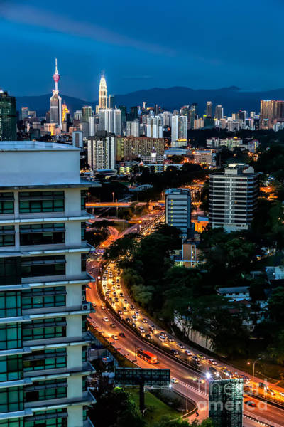 Twin Cities Photograph - Kl City by Adrian Evans